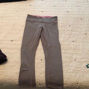 Lululemon reversal leggings. Grey and bright pink!